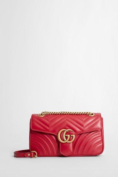 Marmont 红色双G链条包