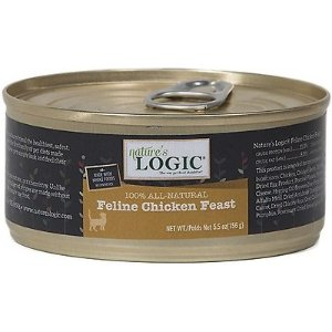 Nature's Logic Feline Chicken Feast Grain-Free Canned Cat Food, 5.5-oz, case of 24