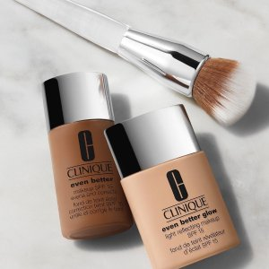 Free Moisture Surge sample & mini foundation brushwith any Clinique foundation purchase @ Belk