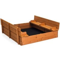 Best Choice Products 47x47in 儿童大型户外木质沙盒