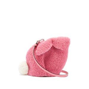 LoeweBunny shearling cross-body bag