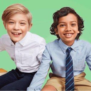 4-5折$2.47起 包邮Children's Place 儿童校服热卖+双倍积分