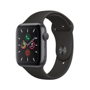 AppleWatch Series 5 (GPS + Cellular), 44mm Space Grey Aluminium Case w/ Black Sport Band