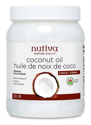$19.49范冰冰推荐护发方法: Nutiva 有机特级冷榨椰子油1.6L