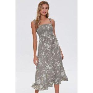 Forever21Floral Print Midi Dress
