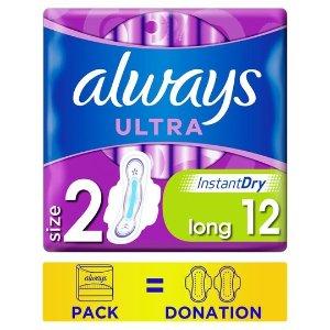 always两包£2.8卫生巾 12片