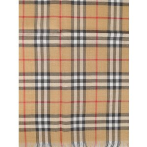 BurberryVintage Check wool and silk blend scarf
