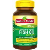 Nature Made Omega-3鱼油 防打嗝版 1400mg 45粒