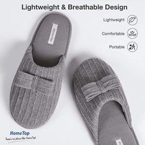 灰色 7-8码断货蝴蝶结针织拖鞋