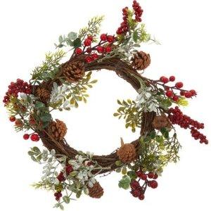 超值价!树枝浆果圣诞花环 40x40cm
