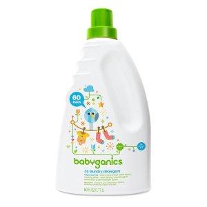 $7.83史低价:Babyganics 3倍超浓缩婴儿洗衣液 60盎司