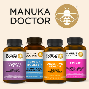 额外8.5折 保健品$12.75独家:Manuka Doctor 新款保健品大促 收蜂王浆胶原蛋白