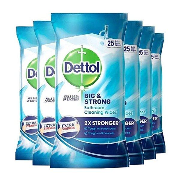 浴室湿纸巾 25条 6件装