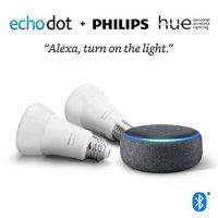 Amazon Echo Dot 3代 + Philips Hue 白色A19(2只) 入门套装