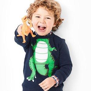 低至2.4折+包邮 折扣升级新春独家:Carter's童装官网 毛衣、卫衣等可爱实用上衣热卖