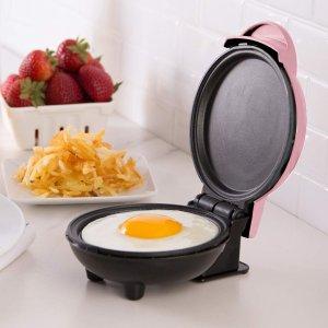 $19.04(原价$28.32) 承包你的花式早餐Dash 粉色迷你电饼铛 快速早餐机 早晨再忙碌也要吃的精致