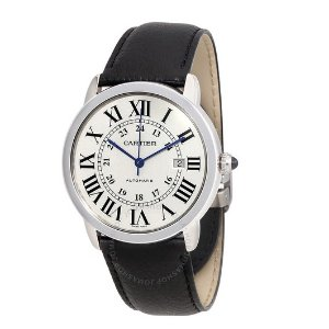 CartierRonde Solo Automatic Silvered Opaline Dial Men's Watch WSRN0022