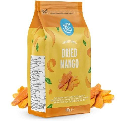首单8折 仅€2.23/包亚马逊自有品牌 Happy Belly 芒果干热促 健康美味停不下来
