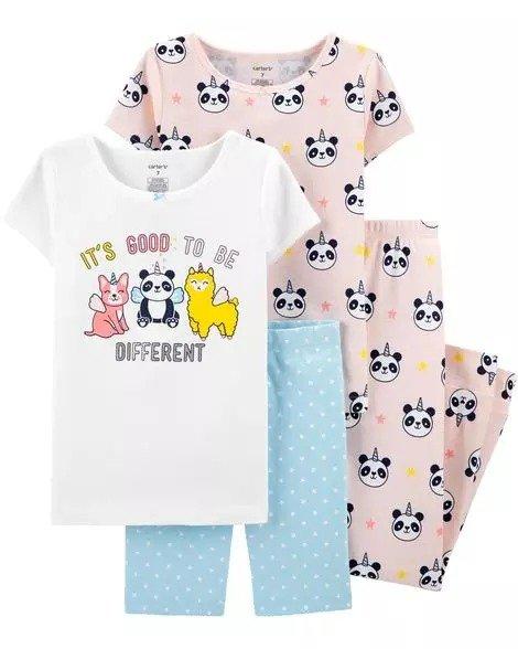 女孩紧身型睡衣4件套
