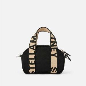 Stella McCartneyWomen's Black Mini Stella Logo Boston Bag | Stella McCartney Men