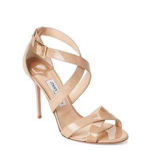 765f69e836f9 Jimmy ChooNude Lottie Crisscross Patent Sandals.  339.99  695.00. Jimmy  Choo Nude ...