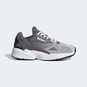 AdidasFalcon 灰色渐变老爹鞋