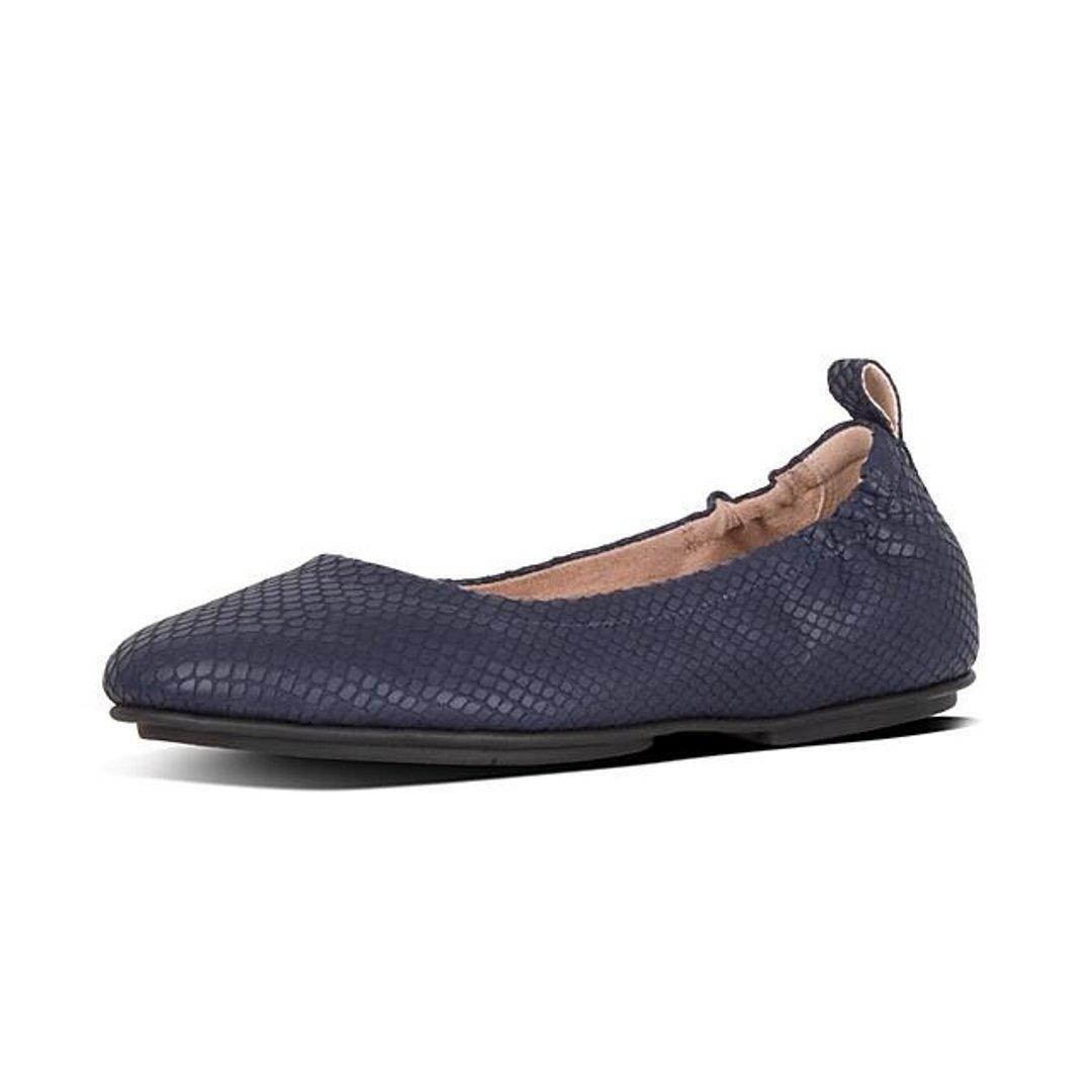 蛇皮印花平底鞋