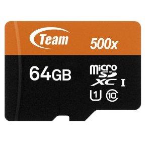 Team 64GB microSDHC UHS-I/U1 Class 10 储存卡