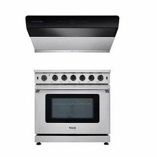 X800-36油烟机+HRG3618U 烤箱炉灶一体机