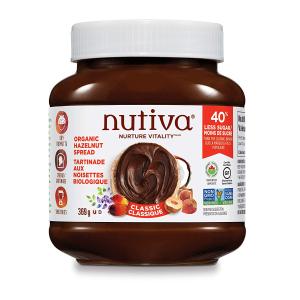 $7.97(原价$9.49) 369g 2味选Nutiva 有机榛果巧克力酱 低糖版 早餐必备 美好你的一整天