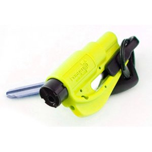 $5.4resqme - Quick Car Escape Tool. Seatbelt Cutter & Window Breaker - Neon