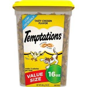 Temptations鸡肉味猫咪零食 16oz