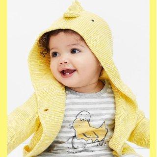 低至4折+额外5折 婴儿长裤 包臀衫$1.99限今天:Gap 儿童春季服饰、鞋履特卖 新款、特价区都参加