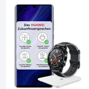 送智能手表、智能体重秤O2✖️Huawei P30 pro 合约 月租€34.99 40GB数据流量