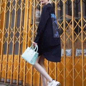 The Kooples4.2折!100%棉衬衫式印花连衣裙