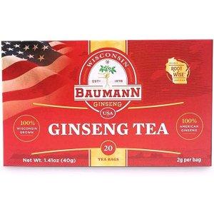 Baumann纯正美国花旗参茶包 20包装