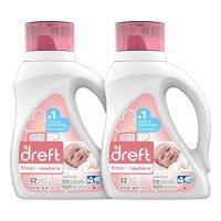 Dreft 第一阶段:新生儿低过敏性婴儿洗衣液,50盎司,2瓶