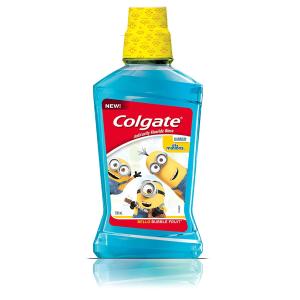 $4.55(原价$6.99) 口腔健康从娃娃抓起Colgate 高露洁儿童漱口水 500ml 小黄人版 水果味