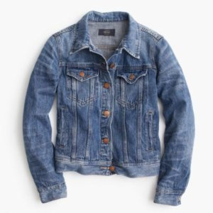 J.Crew Petite Denim Jacket In Tyler Wash
