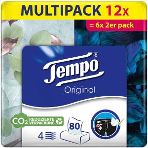 折后仅€1.4/盒 坚韧无纸屑Tempo 得宝盒装抽纸 使用超方便 超厚4层 当擦脸巾也可以