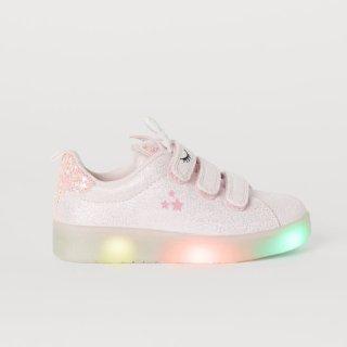 满$60享8折+额外9折+包邮H&M 儿童鞋履特卖 快来收超可爱闪灯鞋