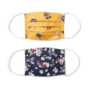 Janie and JackKid Fall Floral Mask 2-Pack