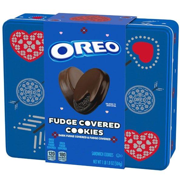 OREO Fudge 巧克力涂层夹心饼干 1.11磅 共24块