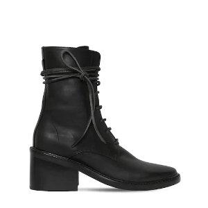 Ann Demeulemeester60MM 系带粗跟鞋