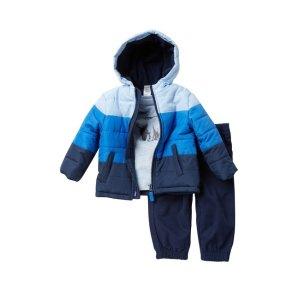 Little MeBlue Gradient Jacket, Top, & Pants Set (Baby Boys)
