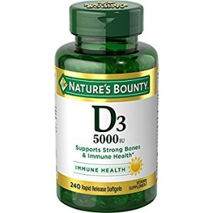 Amazon.com: Set of 2 Nature's Bounty Vitamin D3 5000 IU, 150 Softgels by Maven Gifts: Health & Personal Care