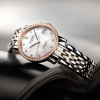 Longines Eleganrt Collection 镶钻珍珠母贝机械奢华女表