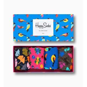 Happy Socks森林主题礼盒 袜子x4