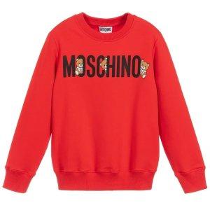 MoschinoHiding Bears logo小熊卫衣