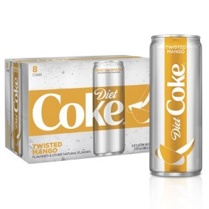 Diet Coke Caffeine-Free Soda, Twisted Mango, 12 Fl Oz, 8 Count - Walmart.com
